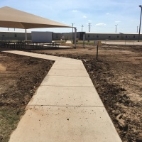 1942 Dilley Texas Turf Walkway Before