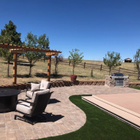 2024 Turf Built In Grill Pergola