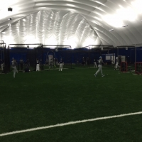 Baseball - Turf in Bubble with Baseball Players